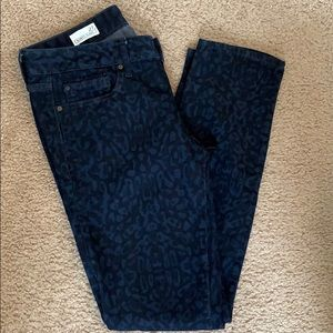 Gap- Cheetah Print, Always Skinny Jean 27